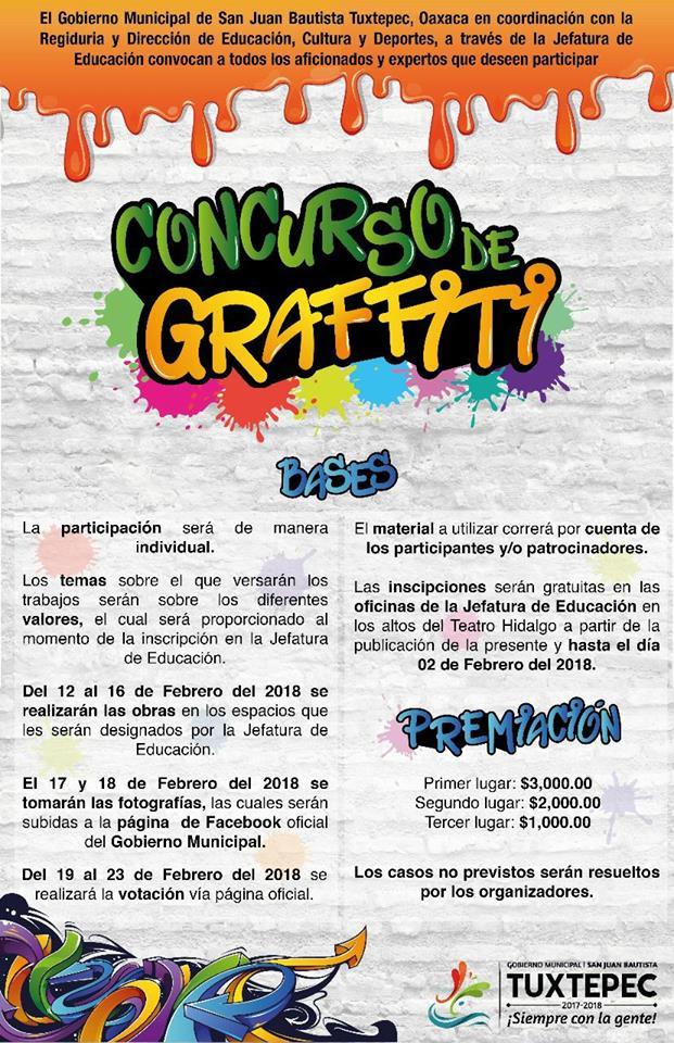 Lanza Gobierno de Tuxtepec convocatoria para Concurso de Graffiti ...